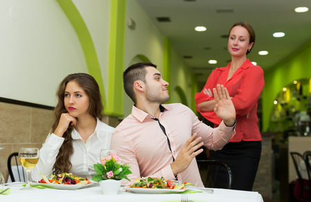 Visitors doesnt like the service at restaurant photo