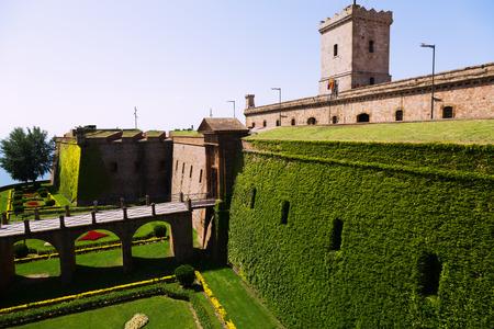 montjuic: Castillo de Montjuic. Barcelona,  Catalonia Editorial