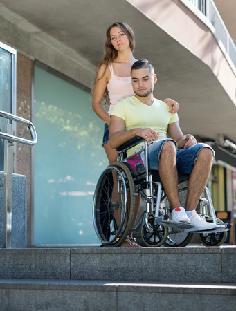 invalidity: Handicapped people having problems with city navigation