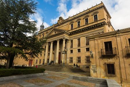 salamanca: SALAMANCA, SPAIN - NOVEMBER 17, 2014: University of Salamanca. The building of the Faculty of Philology