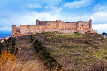mancha: castle of Jadraque in autumn. Castile-La Mancha, Spai