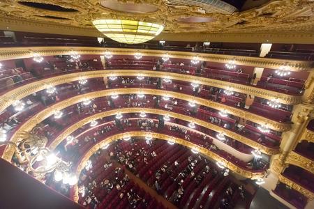 barcelone: Barcelone, Espagne - 27 mars 2015: Audience � Beethoven Concert � La Gran Teatre del Liceu, c�l�bre op�ra de Barcelone, en Catalogne.