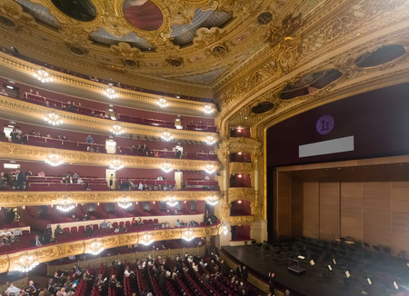 beethoven: BARCELONA, SPAIN - MARCH 27, 2015: Audience at Beethoven Concert in The Gran Teatre del Liceu Editorial