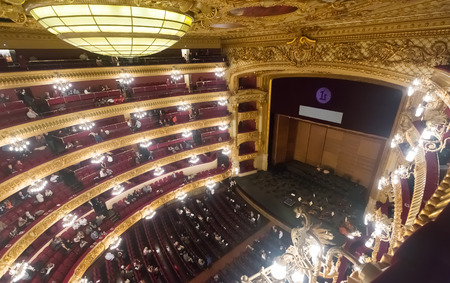 beethoven: BARCELONA, SPAIN - MARCH 27, 2015: Audience at Beethoven Concert in The Gran Teatre del Liceu, famous opera house in Barcelona Editorial