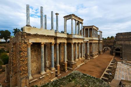 extremadura: Ancient Roman Theatre  in  Merida. Extremadura,  Spain