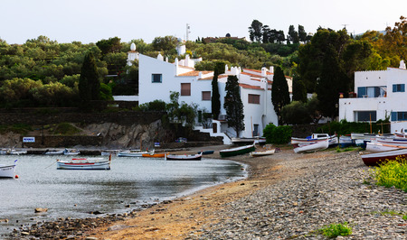 mediterranean home: CADAQUES, SPAIN - MAY 14, 2015: Home of Salvador Dali at mediterranean coast. Cadaques