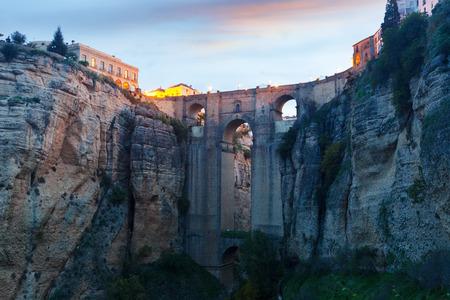 nuevo: The Puente Nuevo bridge  in early morning.   Ronda, Spain