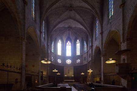 monasteri: L'Inter di Cattedrale di Pedralbes a Barcellona. Catalogna Archivio Fotografico