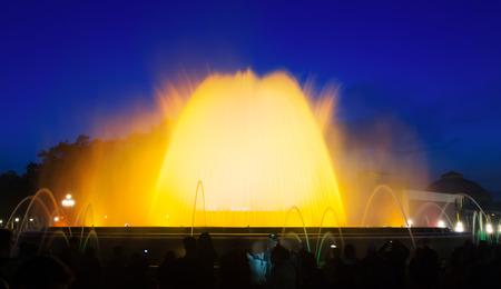 gazer: Montjuic fountain in Barcelona. Spain Stock Photo