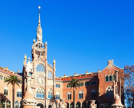 modernisme: View of hospital de Sant Pau, built between 1901 and 1930 in Barcelona.  Spain