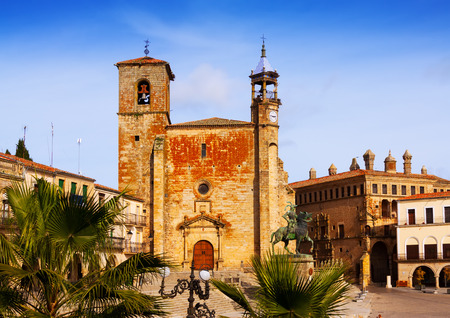 pizarro: Plaza Mayor at Trujillo, Caceres. Spain  It is old centre of town Stock Photo