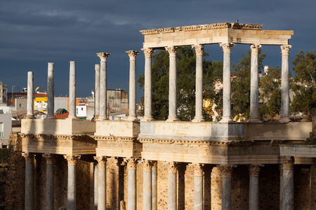 1st century: Old Roman Theatre  in  Merida. Built by the Romans  in end of the 1st century or early 2nd century