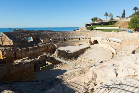 roman amphitheater: Roman amphitheater at Tarragona  in sunny day.  Catalonia,  Spain
