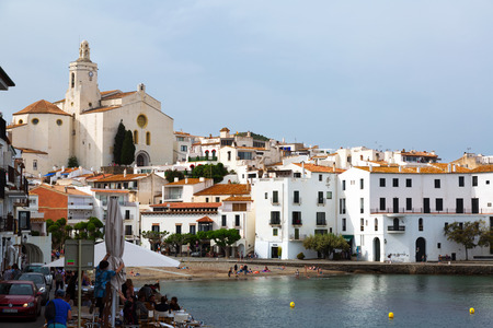 catalunia: CADAQUES, SPAIN - MAY 14, 2015: Town at Mediterranean coast in Catalunia. Cadaques Editorial