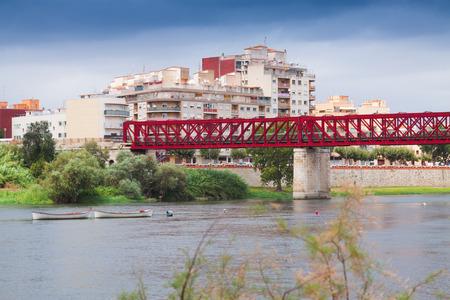ebre: Footbridge over Ebre in Tortosa, Spain