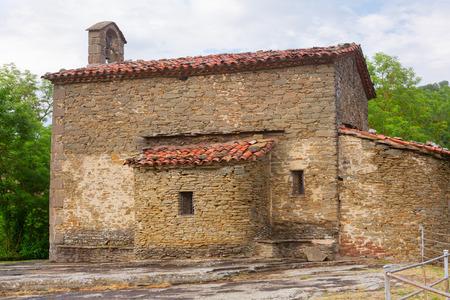 magdalena: Church of Santa Magdalena in Besalu.  Spain Stock Photo