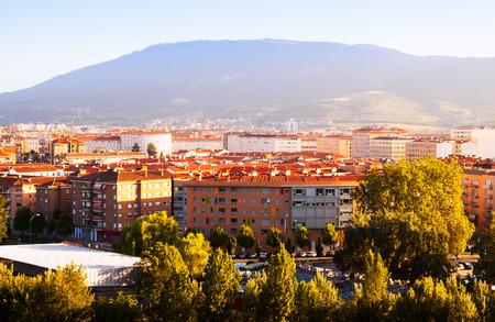 navarre: Pamplona in sunny summer day. Navarre