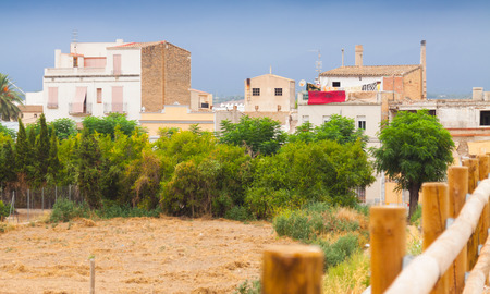 spanish houses: Old houses in spanish town. Tortosa, Spain Stock Photo