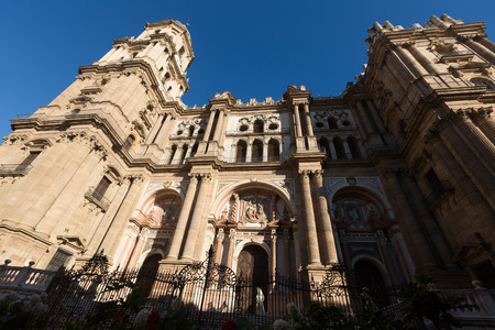 incarnation: The Cathedral of the Incarnation. Malaga, Spain