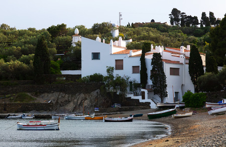 mediterranean home: CADAQUES, SPAIN - MAY 14, 2015: Home of Salvador Dali at mediterranean coast. Cadaques, Catalonia Editorial