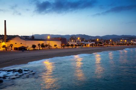 fabrica: beach of Badalona in evening time