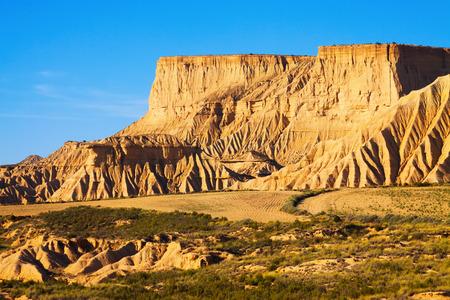 navarra: cliff at  semi-desert  of Navarra. Spain Stock Photo