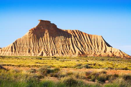navarra: cliff at semi-desert landscape of Navarra