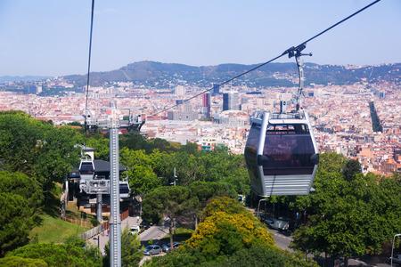 montjuic: Teleferic de Montjuic in Barcelona. Catalonia