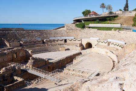 roman amphitheater: Roman amphitheater in Tarragona. Spain Stock Photo