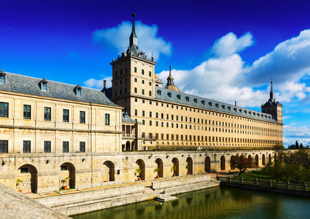 Royal Palace: Escorial. View of Royal Palace in sunny  day. Spain