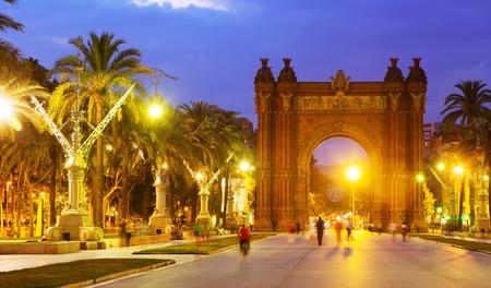 barcelona spain: Arco de Triunfo in evening. Catalonia, Spain