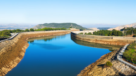 reservoirs: Day view  Guadalhorce-Guadalteba reservoirs.  Andalusia,