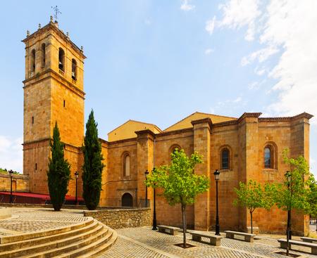 san pedro: Concathedral of San Pedro at Soria.  Castilla y Leon, Spain Stock Photo