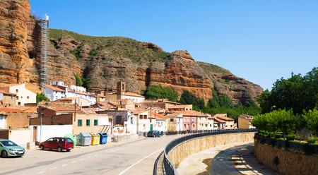 spanish village: spanish village in summer. Los Fayos, Aragon