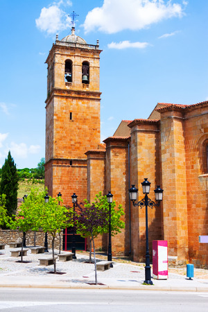 plateresque: Belltower of  Concathedral of San Pedro at Soria.   Castilla y Leon, Spain Stock Photo