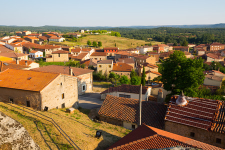 spanish village: Roofs  of residential districts in spanish village.  Hacinas, Castile and Leon ,   Spain
