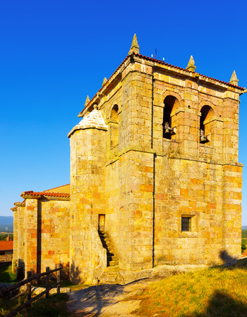 castile: church of Sant Peter in Hacinas, built in 1630. Castile and Leon , Spain Stock Photo