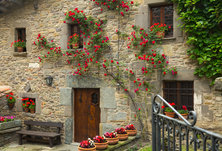 olden: houses in  catalan village.  Rupit i Pruit, Spain