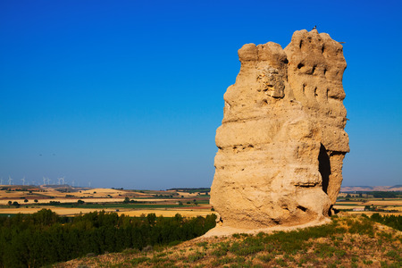 castile and leon: destroyed clay castle of Palenzuela. Castile and Leon, Spain
