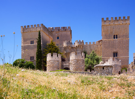palencia province: Castle of  Ampudia.   Province of Palencia, Castile and Leon, Spain Editorial