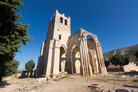 palencia province: Abandoned of the  Church of Santa Eulalia. Palenzuela.  Province of Palencia, Castile and Leon, Spain