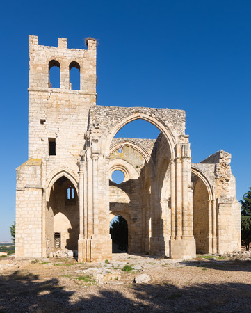 palencia province: Ruins of  Church of Santa Eulalia in Palenzuela.  Province of Palencia, Castile and Leon Stock Photo
