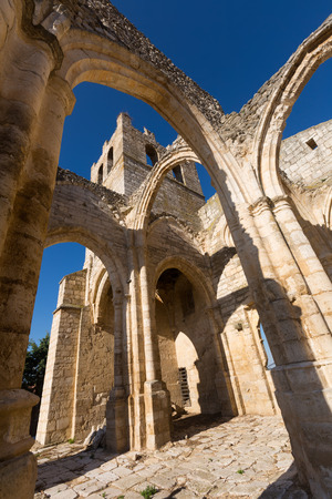 abandoned of the  Church of Santa Eulalia in Palenzuela.  Province of Palencia Stock Photo