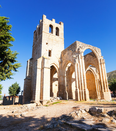 palencia province: Church of Santa Eulalia in Palenzuela.  Province of Palencia, Castile and Leon, Spain Stock Photo