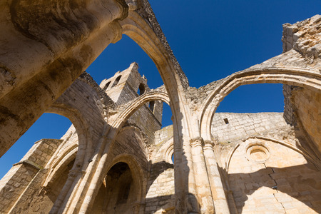 castile and leon: abandoned of  Church of Santa Eulalia in Palenzuela.    Castile and Leon, Spain