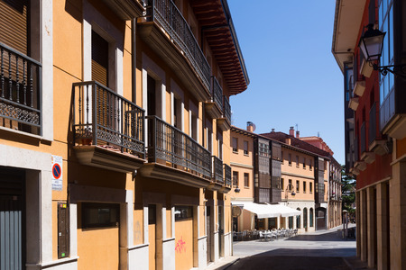 castile and leon: Dwelling houses on old part of Leon. Castile and Leon, Spain Editorial