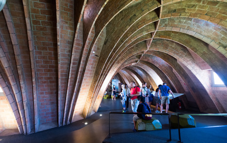 BARCELONA, SPAIN - JUNE 15, 2015: Interior of Casa Mila (La Pedrera) built in 1905–1910 by Catalan architect Antoni Gaudi. Barcelona, Spain