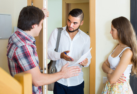 came: Banker came home to the couple clamouring credit repayment