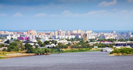 nizhni novgorod: residential district at Nizhny Novgorod in summer. Russia Stock Photo