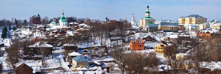 vladimir: Panoramic view of historical district at Vladimir city. Russia